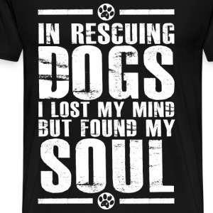 Dog lover - I lost my mind but found my soul - Men's Premium T-Shirt