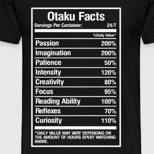 Otaku facts - Daily value may vary with anime - Men's Premium T-Shirt