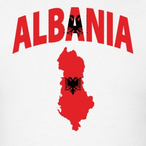 Albania flag map t-shirt - Men's T-Shirt