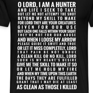Bowhunter prayer - As clean as those I killed - Men's Premium T-Shirt
