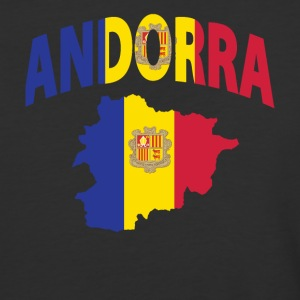 Andorra flag map baseball tee - Baseball T-Shirt