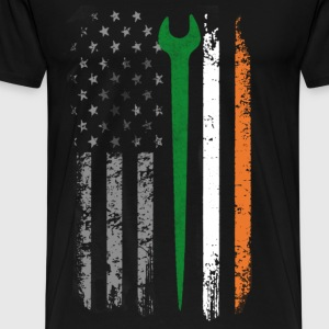 Irish iron worker - Irish flag T - shirt - Men's Premium T-Shirt