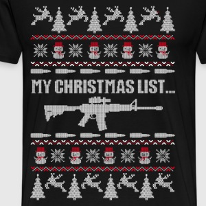 Christmas sweater for Michigan gun owner - Men's Premium T-Shirt
