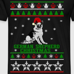 Christmas sweater for German Shepherd lover - Men's Premium T-Shirt