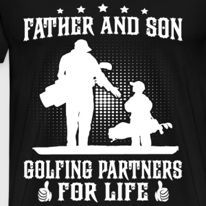 Golfing - Father and son golfing partners for life - Men's Premium T-Shirt