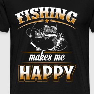 Fisher - Fishing makes me happy - Men's Premium T-Shirt