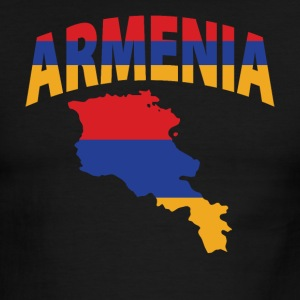 Armenia flag map ringer tee - Men's Ringer T-Shirt