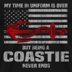 Coastie - My time in uniform is over but never end - Men's Premium T-Shirt