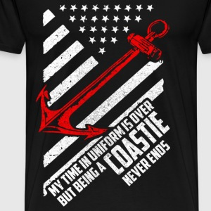 Coastie - Being a Coastie never ends - Men's Premium T-Shirt