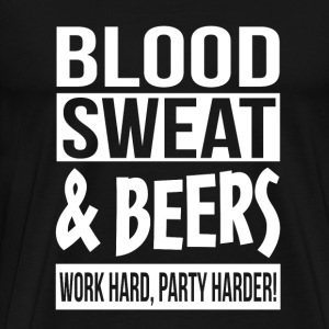 Beer lover - Work hard, party harder! - Men's Premium T-Shirt
