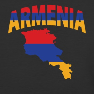 Armenia flag map baseball tee - Baseball T-Shirt