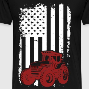 US Farmer - American flag T-shirt - Men's Premium T-Shirt