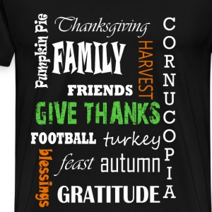 Thanksgiving - Football turkey feast autumn - Men's Premium T-Shirt
