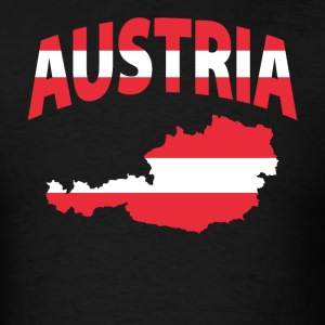 Austria Flag Map t-shirt - Men's T-Shirt