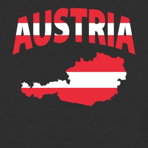 Austria Flag Map baseball tee - Baseball T-Shirt