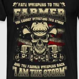 Farmer - Whisper back I am the storm - Men's Premium T-Shirt