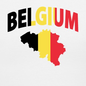 Belgium flag map v-neck tee - Women's V-Neck T-Shirt
