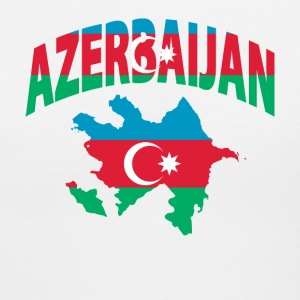 Azerbaijan flag map v-neck tee - Women's V-Neck T-Shirt
