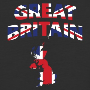 Great Britain flag map baseball tee - Baseball T-Shirt