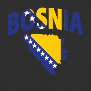 Bosnia flag map baseball tee - Baseball T-Shirt