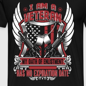Army Veteran Oath of enlistment has no expiration - Men's Premium T-Shirt