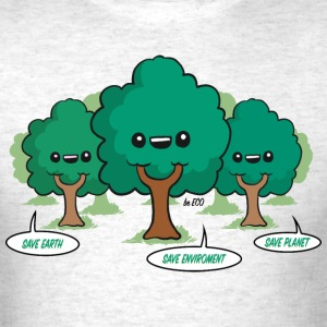 Save the Planet Trees T-Shirts - Men's T-Shirt
