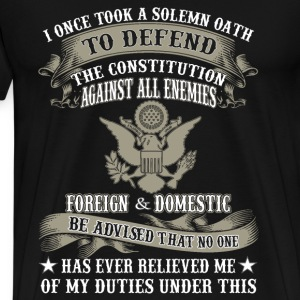 veteran combat I once took a solemn oath to defend - Men's Premium T-Shirt