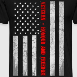 Veteran flag, honor and freedom - US flag - Men's Premium T-Shirt