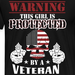 This girl is protected by a veteran - wife - Men's Premium T-Shirt