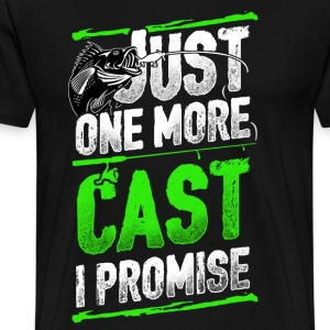 Fisher - Just one more cast I promise - Men's Premium T-Shirt