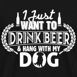 Dog lover - Drink beer  - Men's Premium T-Shirt