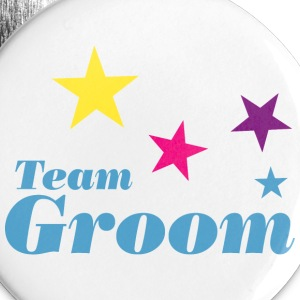 Team groom Buttons - Large Buttons
