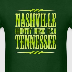 Nashville  Tennessee Country - Men's T-Shirt