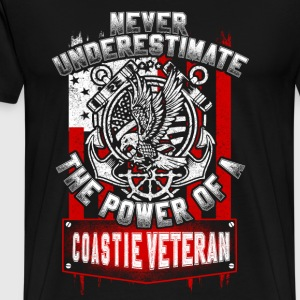 Power of a Coastie veteran - Never underestimate - Men's Premium T-Shirt