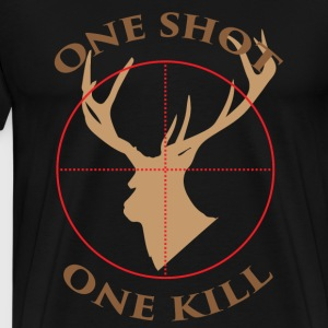 Deer hunter T - shirt - One shot, one kill - Men's Premium T-Shirt