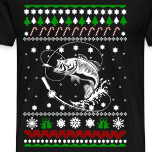 Fisherman Ugly Christmas sweater for fishing lover - Men's Premium T-Shirt