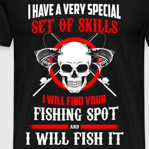 I will find your fishing spot - I will fish it - Men's Premium T-Shirt