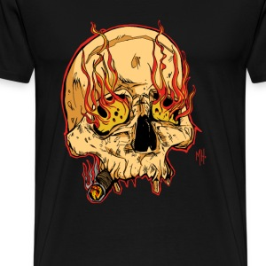 skull with cigar - Men's Premium T-Shirt