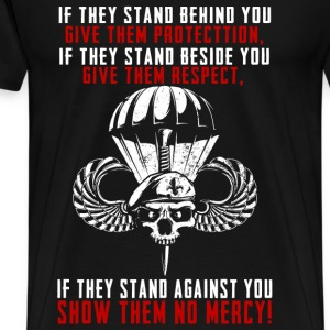 Paratrooper...they stand against you show no mercy - Men's Premium T-Shirt