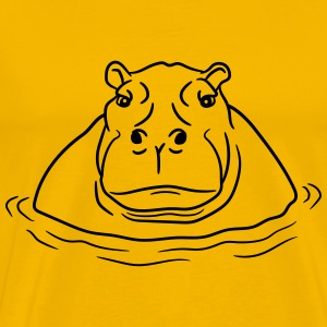 hippopotamus thick water swim thick large lake tüm T-Shirts - Men's Premium T-Shirt
