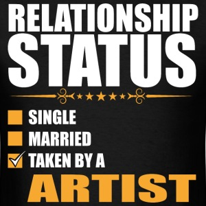 Relationship Status Single Married Taken By A Arti - Men's T-Shirt