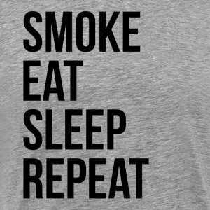 SMOKE EAT SLEEP REPEAT T-Shirts - Men's Premium T-Shirt