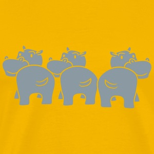 pattern three 3 friends group team party popo ass  T-Shirts - Men's Premium T-Shirt