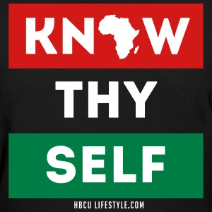 Know Thy Self - Women's Red, Black, and Green T-sh - Women's T-Shirt