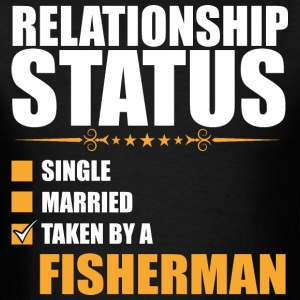 Relationship Status Single Married Fisherman - Men's T-Shirt