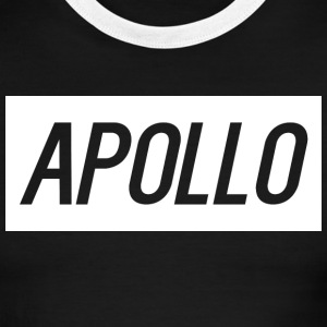 Apollo Black & White Ringer Shirt Text - Men's Ringer T-Shirt
