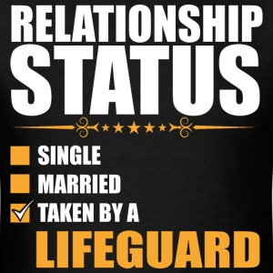 Relationship Status Single Married Lifeguard - Men's T-Shirt