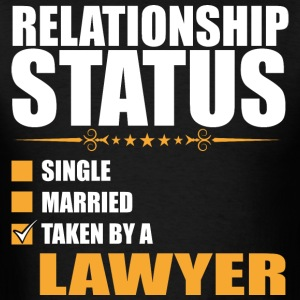 Relationship Status Single Married Lawyer - Men's T-Shirt