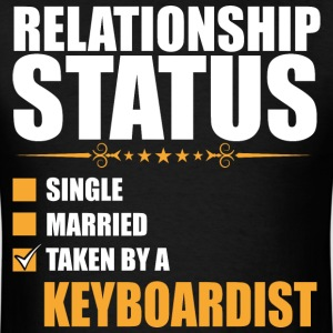 Relationship Status Single Married Keyboardist - Men's T-Shirt