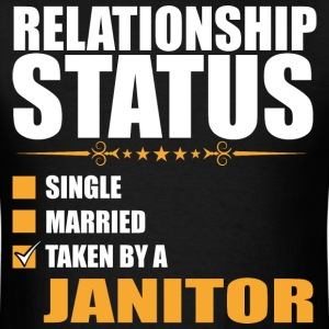 Relationship Status Single Married Janitor - Men's T-Shirt